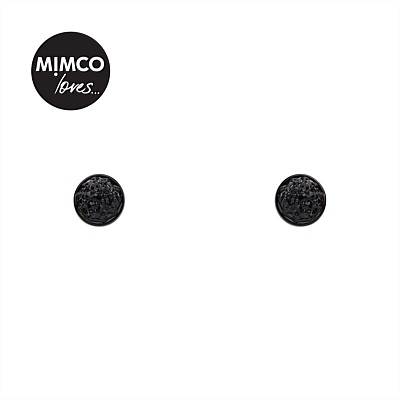 Stud Earrings in Silver, Black, Gold & Crystal | Mimco - MINI CRYSTAL DOME STUD