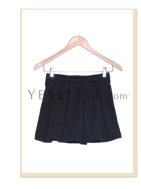 Pleated A-Line Miniskirt, Black , One Size - 59 Seconds | YESSTYLE United Kingdom