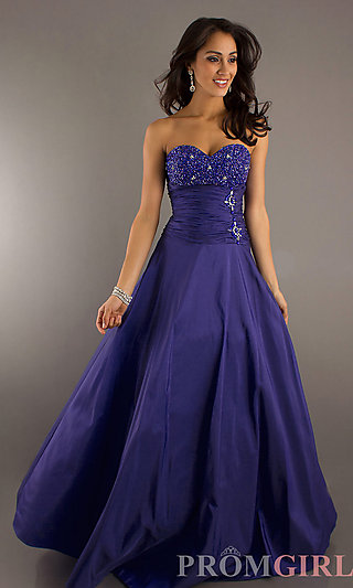 Cheap Strapless Ball Gown, Long Prom Dresses under $200 -PromGirl