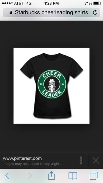 t-shirt starbucks logo imprinted black shirt