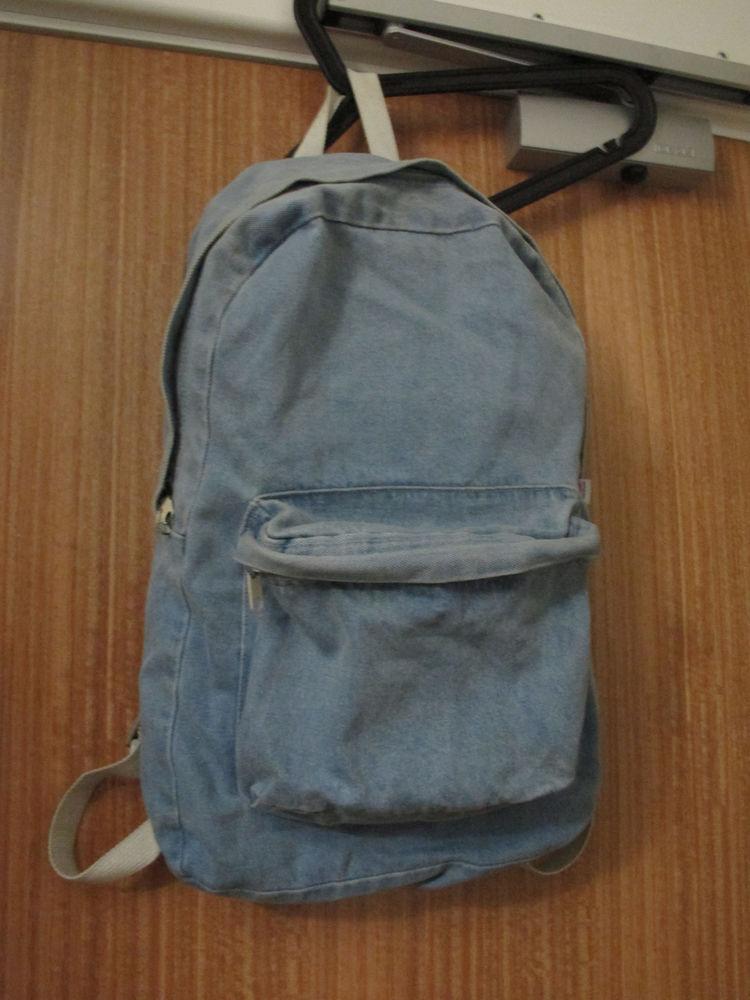 American Apparel midiem wash indigo denim backpack | eBay