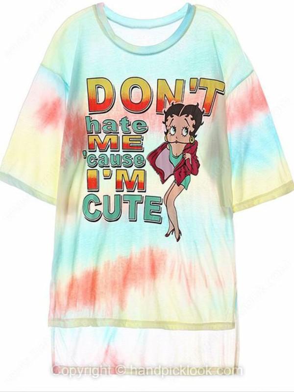 t-shirt ugly betty print summer shirts ugly betty rainbow dress colorful patterns summer dress blouse