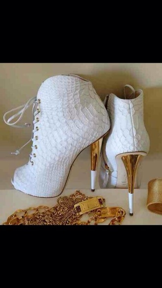 shoes open toes gold heel