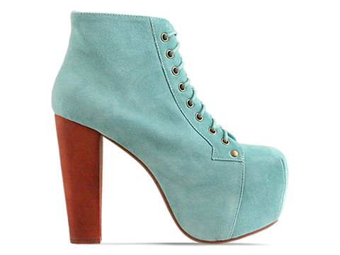 Jeffrey Campbell Lita in Turquoise Suede at Solestruck.com