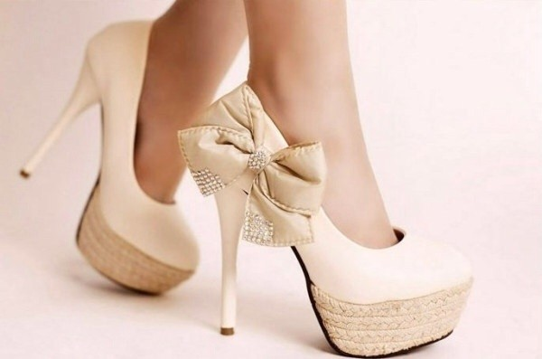 shoes bedazzled bow high heels nude high heels