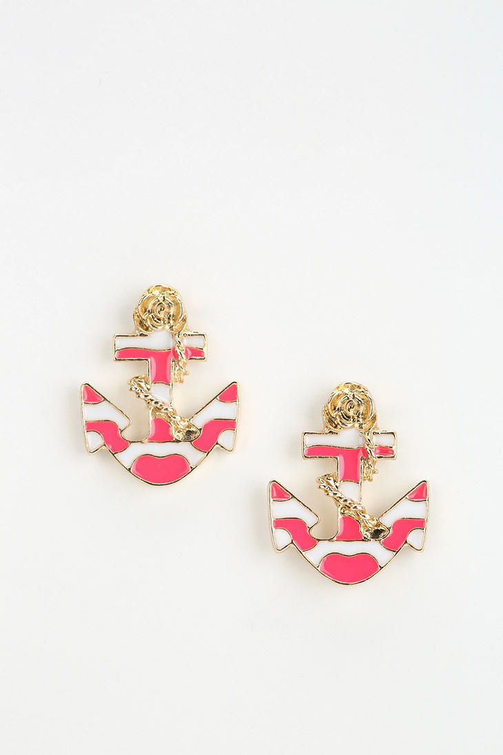 Nautical Anchor Earring  - Urban Outfitters