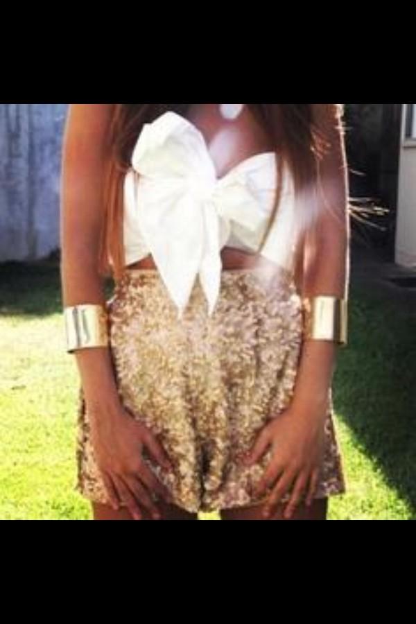 shorts gold sequins gold sequins shirt