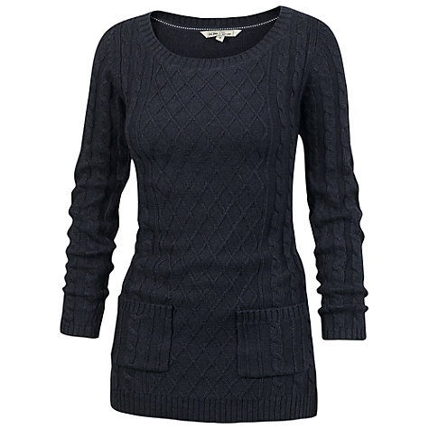 Buy Fat Face Fleur Knit Tunic Top, Navy online at John Lewis