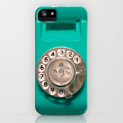 OLD PHONE - AQUA GREEN EDITION for Iphone iPhone & iPod Case by Simone Morana Cyla | Society6