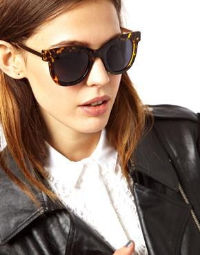 ASOS   ASOS Metal Arms Retro Sunglasses at ASOS