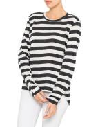 Stripe Oversized French Seam T-Shirt With Tail   David Jones