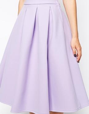 ASOS | ASOS Premium Prom Midi Skirt in Bonded Crepe at ASOS