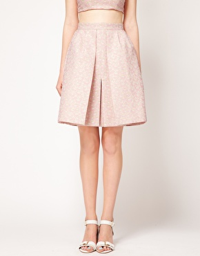 ASOS | ASOS Full Skirt In Pastel Jacquard at ASOS
