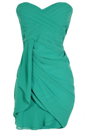 Lily Boutique Dreaming of You Chiffon Drape Party Dress in Green by Minuet Lily Boutique