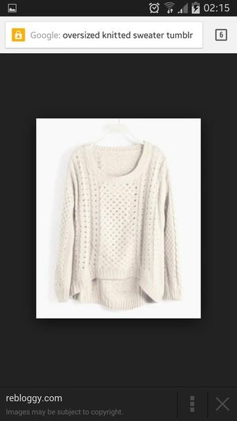 sweater cream knitwear oversized sweater