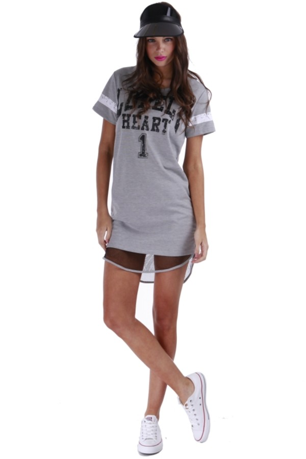 dress grey tshirt dress sportsluxe casual glamour onehoneyboutique