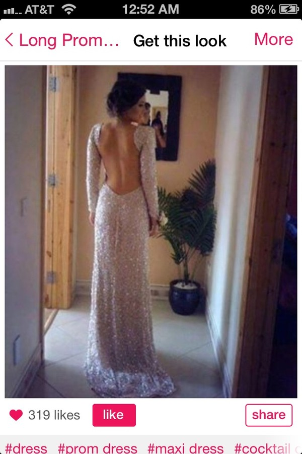 dress long prom dress long sleeve dress sparkly dress prom dress prom pink backless dress