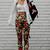 Retro Black Floral Trousers   Choies