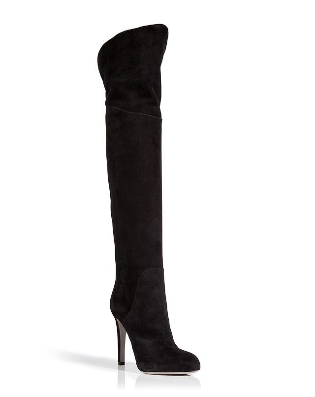 SuedeOver-the-KneeBootsinBlackfromSERGIOROSSI | Luxury fashion online | STYLEBOP.com