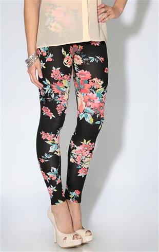 Black and White Floral Leggings - Black and white floral leggings from Fabletics. Size small, not see-through (passes a squat test), Capri length. Barely worn, no tags.