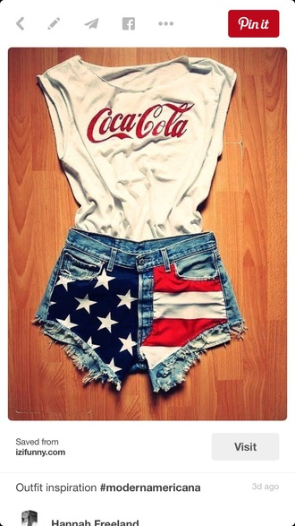 shirt cloth coca cola t-shirt shorts