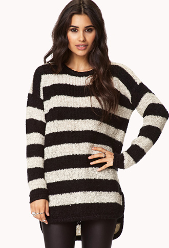 Cozy Marled Striped Sweater | FOREVER21 - 2075621170