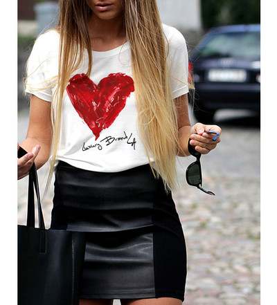 Painted Heart Luxury Brand LA Tee · Luxury Brand LA · Online Store Powered by Storenvy