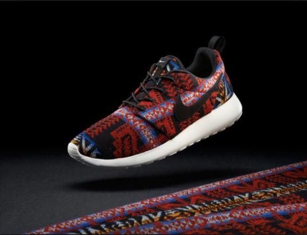 shoes roshe runs tribal pattern nike roshe run nike sneakers low top sneakers nike