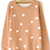 Khaki Long Sleeve Polka Dot Pullover Sweater - Sheinside.com