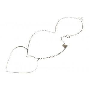"Fashion Accessories, Womens Jewellery, Silver ""I'v Got A Big Heart"" Pendant Necklace at La beau Boutique"