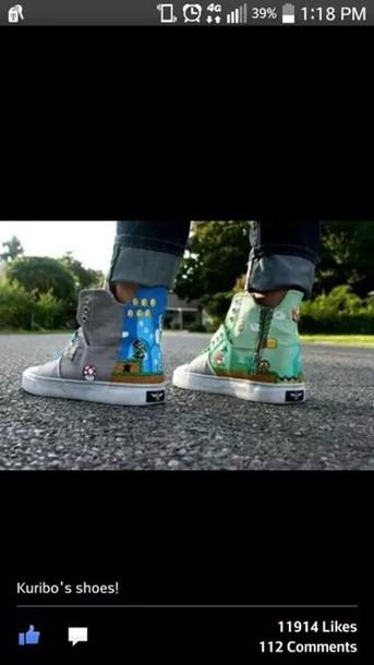 shoes grey shoes mario bros