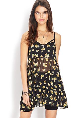 Sunflower Daze Smock Dress | FOREVER21 - 2000064057