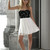 Elise Ryan Cream and Black Skater Dress - Wedding Guest Dresses | Glitzy Angel