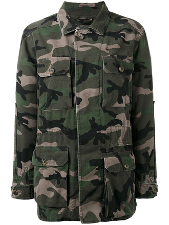 jacket women camouflage cotton green
