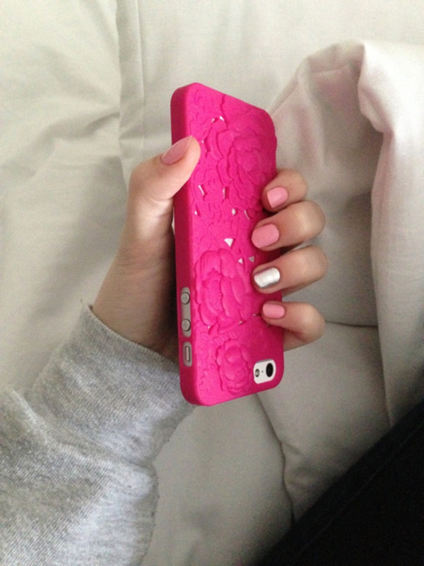 jewels iphone iphone cover iphone case iphone 5 case pink girly beautiful edgy amazing dark pink