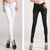 2013 New Arrival Celebrity Style White Black Ripped Destroyed Torn Skinny Leg Jeans Pencil Pants Demin Trousers Plus Size P02 on Aliexpress.com