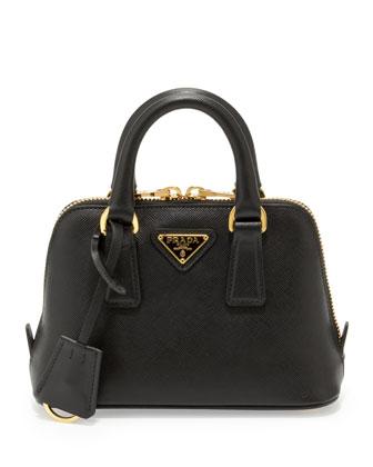 Prada Saffiano Mini Promenade Crossbody Bag, Black - Neiman Marcus
