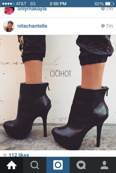 shoes heels black boots zip zipper heels zipper boots cute leather something similar