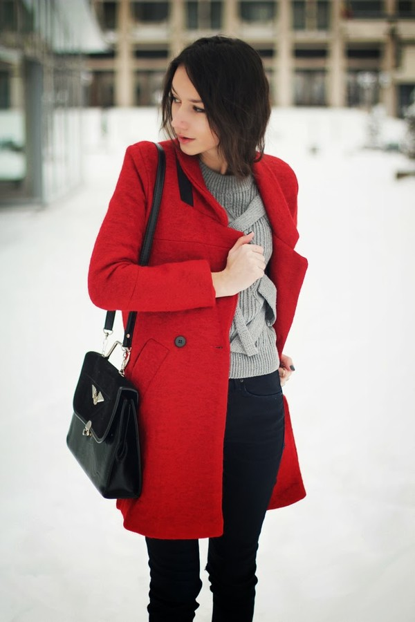 the fashion cuisine coat sweater jeans shoes bag