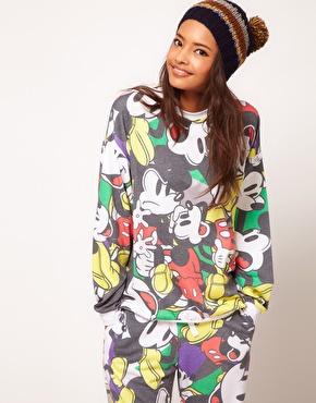 ASOS | ASOS Sweatshirt with All Over Mickey Print at ASOS