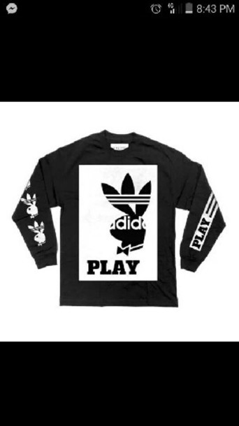 shirt playboybunny adidas shirt