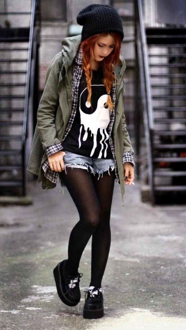 shirt chinese wonderful grunge soft grunge h&m hippie hipster goth hipster pastel goth goth jacket shoes