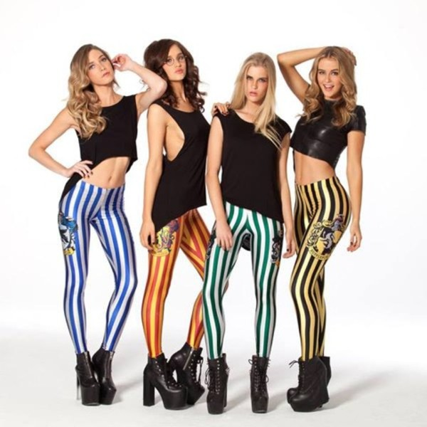 pants leggings harry potter slytherin ravenclaw hufflepuff