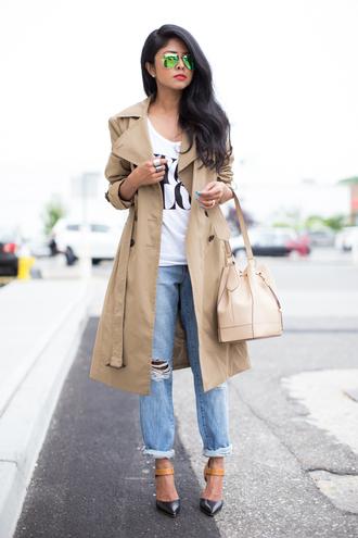 walk in wonderland coat jeans bag shoes sunglasses