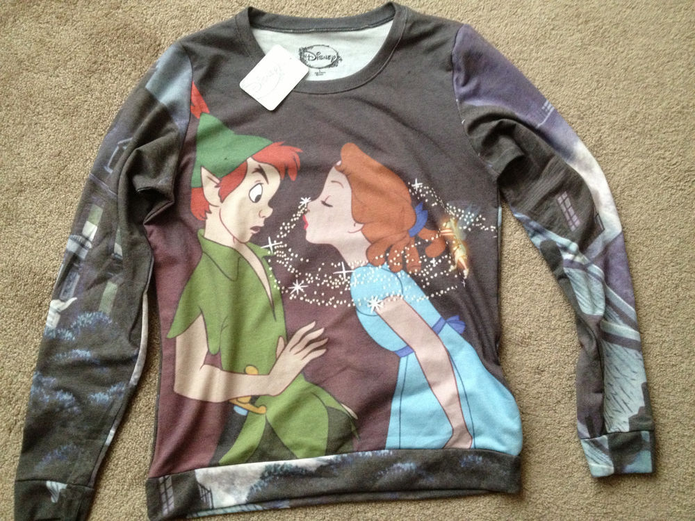 Disney Peter Pan Pull Over Sweater New XLarge Free Shipping Rue 21 Hot | eBay