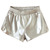 Silver Elastic Waist Split PU Leather Shorts - Sheinside.com