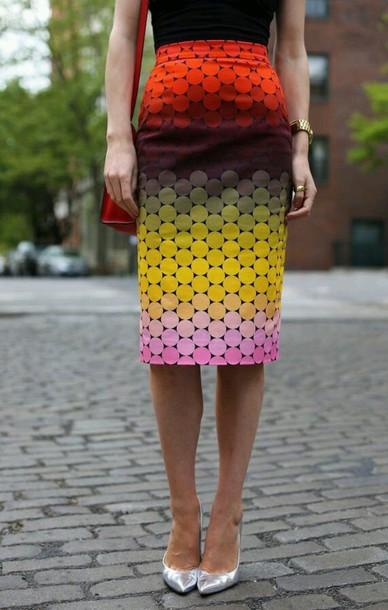 skirt multi-colored skirt