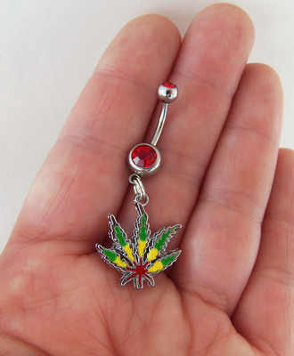 jewels rasta marijuana belly ring belly piercing belly button ring body chain hippie hippie chic