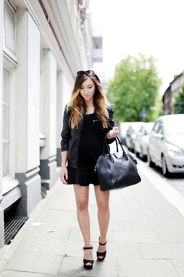 flirting with fashion jacket top skirt shoes sunglasses bag