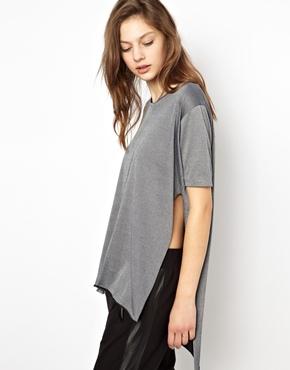 Cheap Monday   Cheap Monday Long T-Shirt With Side Split at ASOS